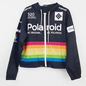 Polaroid windbreaker zip up jacket